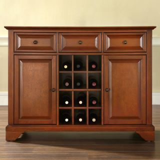Crosley LaFayette Buffet Server with Wine Storage   Dining Accent Furniture