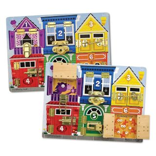 Melissa and Doug Latches & Skills Boards   Fine Motor Puzzles   Learning Aids