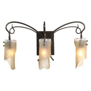 Varaluz Soho 3 Light Bath Light   23W in. Statue Garden   Bathroom Lighting