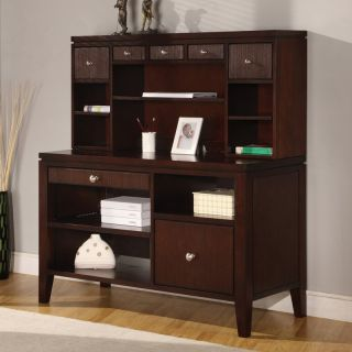 Martin Home Furnishings Curt Christian Grove Internet Credenza with Optional Hutch   Computer Desks