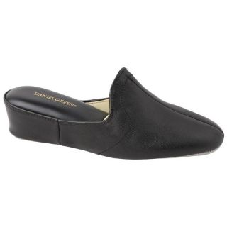 Glamour Womens Scuff Slippers by Daniel Green   Black   Womens Slippers
