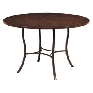Hillsdale Cameron Round Wood and Metal Dining Table   Dining Tables
