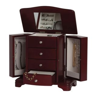 Mele Shannon Cherry Musical Jewelry Box   9.63W x 9.25H in.   Womens Jewelry Boxes