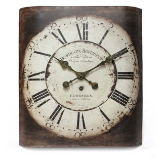 Infinity Instruments Bordeaux 12.25 Inch Wide Antique Wall Clock   Wall Clocks