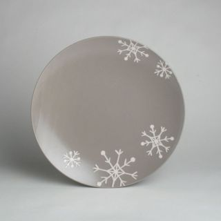 Tag 13.25 in. Gray Chalet Snowflake Platter   Winter