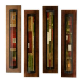 Nova Renditions Metal Wall Art   Set of 4   Wall Sculptures and Panels