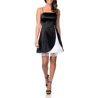 Betsy & Adam Women's Black/ White Party Dress Betsy & Adam Prom Dresses