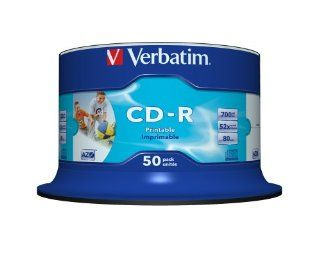 Verbatim CD R Wide Printable Surface 52x 700MB: Computer & Zubeh�r