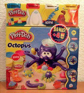 Play Doh 20472148   Octopus Spielset mit 4er Pack Knetdosen extra: Spielzeug