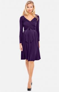 Olian Lucy Draped Stretch Knit Maternity Dress