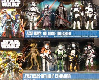 Sparset! Star Wars Republic Commando Delta Squad + The Force Unleashed Sith & Imperial Troopers von Hasbro: Spielzeug