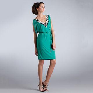 Muse   Vestido de mujer con escote en V adornado y lazo en la cintura Muse Casual Dresses