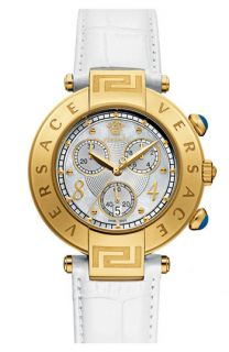 Versace Reve Chrono Leather Strap Watch, 40mm