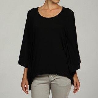 Cable & Gauge Women's Boat Neck Lace Trim Top Cable & Gauge Short Sleeve Shirts