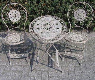 Jugendstil Gartenm�bel Set French Gray   1 Tisch, 2 St�hle   Eisen: Garten