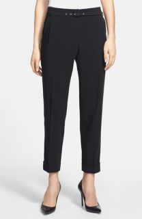 Weekend Max Mara Gelosia Belted Double Knit Cuff Ankle Pants