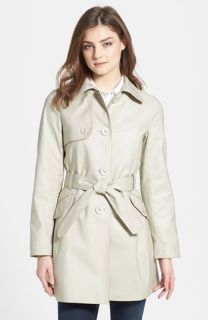 Kristen Blake Piped Stretch Cotton Trench Coat (Regular & Petite)