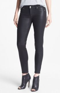 Paige Denim Verdugo Coated Skinny Ankle Jeans (Black Silk)