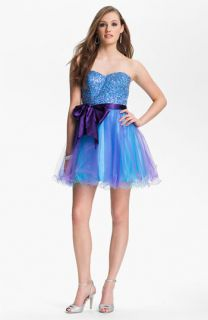 Sean Collection Embellished Strapless Tulle Cocktail Dress (Online Only)