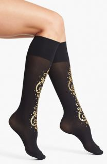Pretty Polly Baroque Embellished Knee High Socks