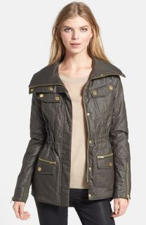 BCBGMAXAZRIA Kelly Quilted High/Low Anorak with Removable Liner