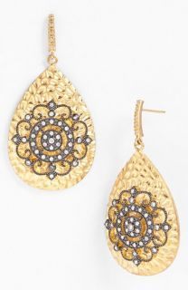 Freida Rothman Hamptons Nautical Wheel Teardrop Earrings