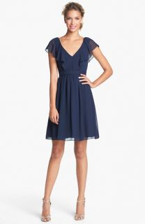 Jenny Yoo Isabel Ruffled Chiffon Fit & Flare Dress (Online Only)