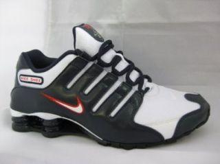 Nike Shox NZ EU Schuhe white chilling red dark obsidian   46: Schuhe & Handtaschen