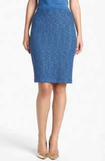 St. John Collection Flecked Tweed Pencil Skirt