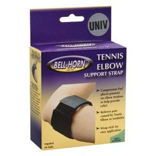 Bell Horn Tennis Elbow Support Strap in Black 194: Health & Personal Care