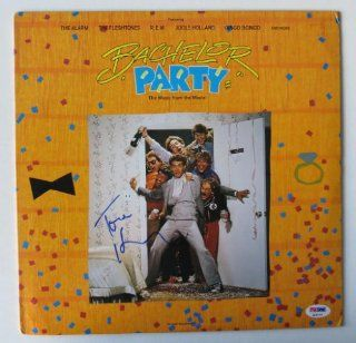 "Tom Hanks Signed ""Bachelor Party"" Authentic Autographed Record Album Soundtrack (PSA/DNA): Collectibles & Fine Art"