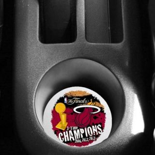 Miami Heat 2013 NBA Finals Champions 2 Pack Neoprene Car Coasters