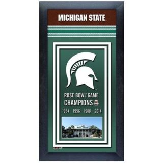 Michigan State Spartans 2014 Rose Bowl Champions Framed Banner