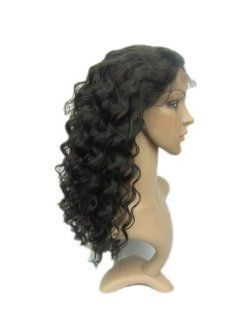 "Tanya 16"" Deep Wave Style Full Lace Wig 2# Dark Brown Indian Remi 100% Human Hair: Beauty"
