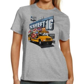 2014 NCAA Mens Basketball Tournament Sweet 16 Ladies Ends Here Texas (The Bus) T Shirt   Gray