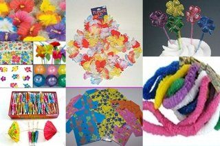 198 pc Tropical LUAU PARTY PACK  Leis, hibiscus luau tablecloth lanterns garland hibiscus tattoos hibiscus flowers luau balloons  tropical straws and more   Party Supplies