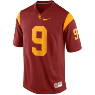 Nike USC Trojans Youth #9 Game Football Jersey   Cardinal