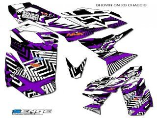 Senge Graphics 2003 2009 Ski Doo REV series Mayhem Purple graphics kit: Automotive