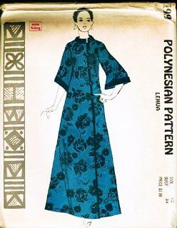 Polynesian Pattern 199 Vintage Hawaiian Lehua Muu Muu Dress, 1960s/70s Vintage Sewing Pattern: Everything Else