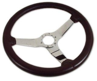 West Coast Corvettes   Corvette Reproduction Steering Wheel Claret   A3X23836DS: Automotive