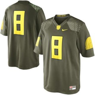 Nike Oregon Ducks #8 Limited Edition Military Jersey   Olive