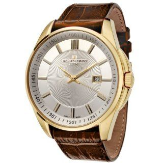 Jacques Lemans Men's GU199N Geneve Collection Tempora Gold Ion Plated Stainless Steel Watch: Watches