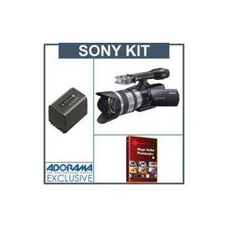 Sony NEX VG10 Hi definition Interchangeable Lens Handycam Camcorder (E mount 18 200mm Zoom Lens Included)   Bundle   with Sony NP FV100 Rechargeable Camcorder Battery Pack for V Series, 3900mAh   FREE: Red Giant Magic Bullet PhotoLooks V1.5 Software, a $19