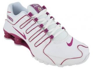 Womens Nike Shox NZ Running Shoes White / Rave Pink 314561 196 Size 7.5: Sports & Outdoors