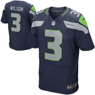 Nike Russell Wilson Seattle Seahawks Elite Jersey   College Navy
