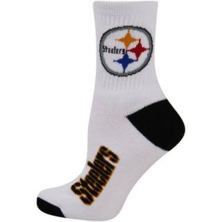 Pittsburgh Steelers Ladies Team Logo Crew Socks   White