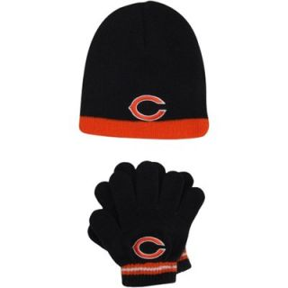 Chicago Bears Toddler Knit Hat and Glove Set   Navy Blue
