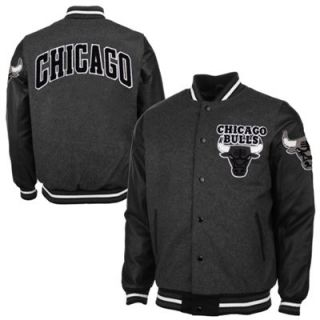 Chicago Bulls Bogue Varsity Jacket   Charcoal