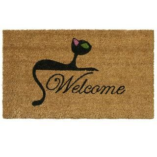 Kitty Cat Coir Welcome Mat Rubber Cal Door Mats