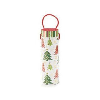 Christmas Trees Wine Bottle Holder Box   Winter Whimzy Holiday Party Toys & Games